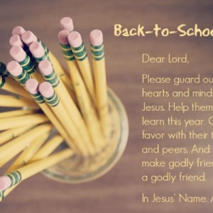 Ark II Preschool First Day of School Prayer